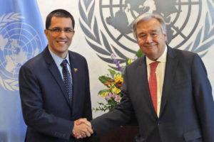 """Luego de reunirse con Arreaza, el funcionario reitero su postura de que es necesaria """" una solución basada en el diálogo y el compromiso entre el Gobierno y la oposición"""""""