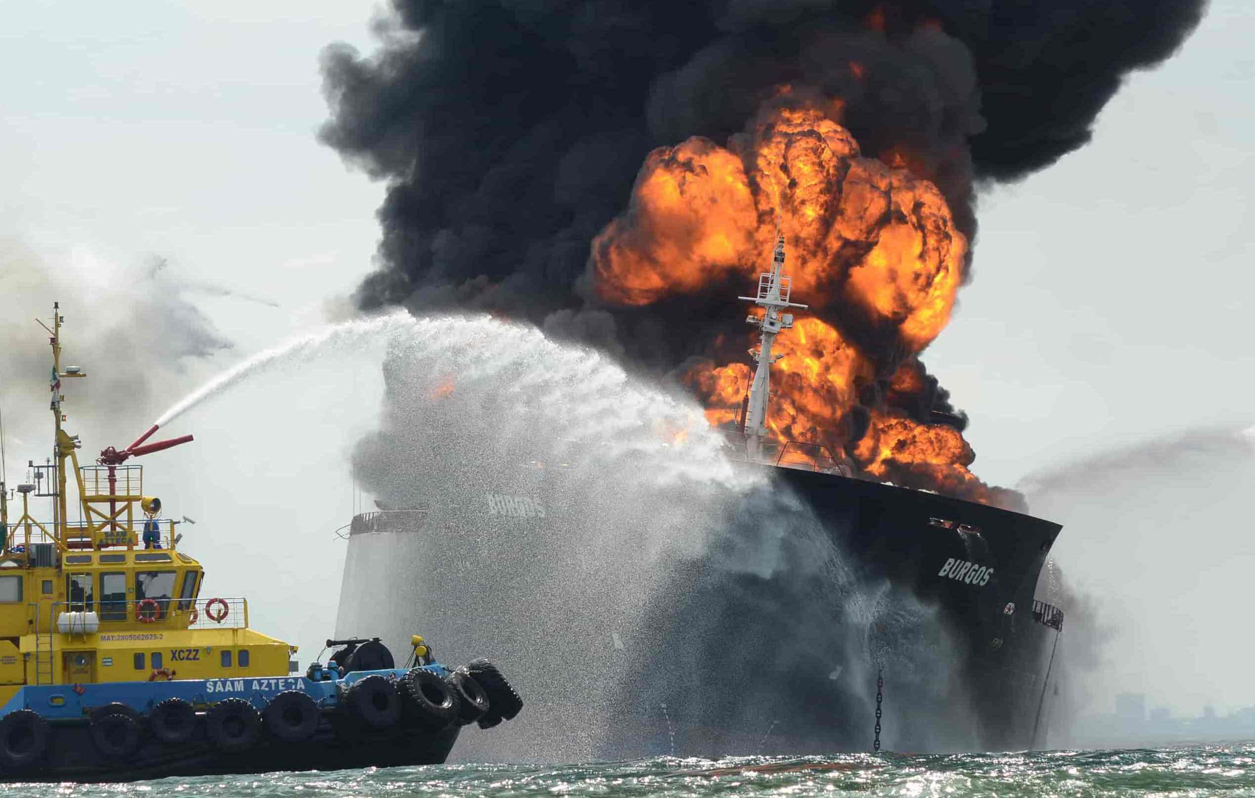 El hecho ocurrio en una localidad surcoreana cuando el barco estaba siendo armado en un astillero