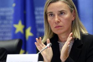 La alta representante de la UE, Federica Mogherini, cree que es más difícil una vuelta pacífica al orden en el país