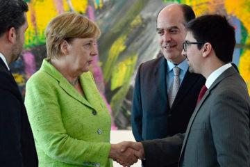 La dirigente alemana ofrece su respaldo al Parlamento venezolano, según la cuenta de Twitter de la AN