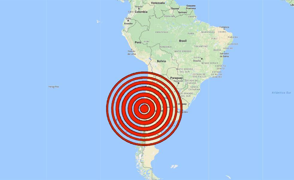 De acuerdo con Onemi el movimiento de mediana intensidad sacudio las zonas de Coquimbo Valparaiso, Metropolitana y OHiggins