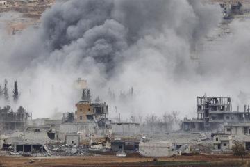 El hecho tuvo lugar en la ciudad de Al Raga luego de que la coalicion liderada por EEUU perpetrara el ataque en su lucha contra el EI