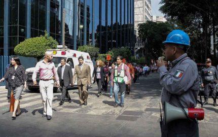 El movimiento telúrico ocurrió exactamente una hora después de un simulacro masivo llevado a cabo por protección civil