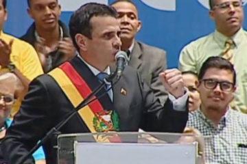 El lider opositor se despidió este miércoles de la Gobernación en un acto que se realizó en Parque Miranda