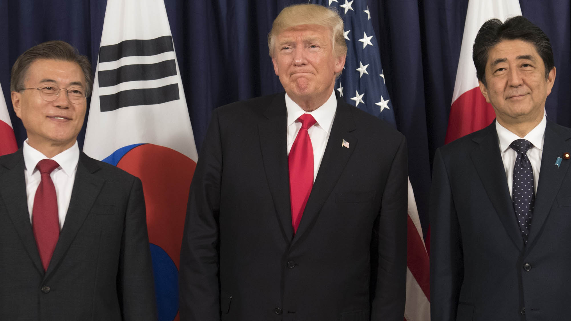 Ambos mandatarios reafirmaron su cooperación junto a EE.UU. para hacer frente a Norcorea