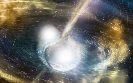 La fusión de dos estrellas de neutrones provocó la eyección de partículas del elemento por el espacio