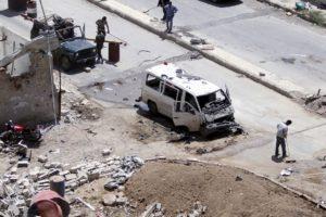 De acuerdo con la agencia oficial SANA, el ataque fue perpetrado con un carro bomba perteneciente al Frente al Nusra