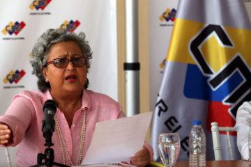 La rectora del CNE informo que los comicios se realizaran el 10 de diciembre al igual que la eleccion del gobernador del estado Zulia