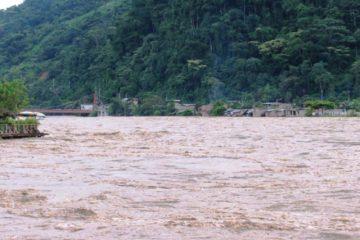 Los ríos Ponaza y Miski Yaku se desbordaron tras intensas lluvias que cayeron en las últimas horas sobre diversas áreas de la Amazonía peruana