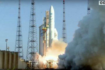 Según informaciones de la Agencia Espacial Europea el cohete partió con un ligero retraso de tres minutos