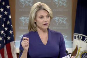 """La portavoz del departamento de estado de EE.UU. afirmó que el presidente solo busca """"consolidar el poder en su dictadura autoritaria"""""""