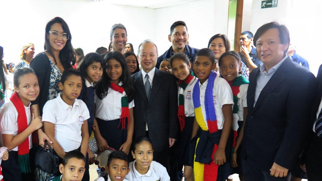 Erwin Miyasaka, presidente de la Cámara Venezolana Japonesa (Caveja) destacó los logros de los niños venezolanos