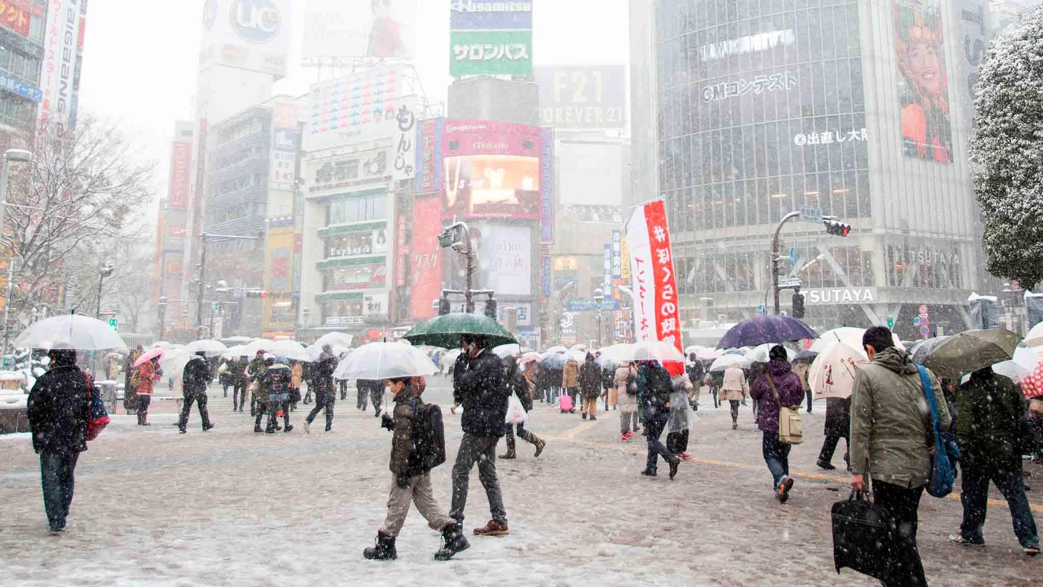 Japón se ve afectado desde el lunes por el peor temporal de nieve que ha azotado el centro del país en los últimos cuatro años