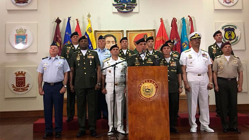 """El ministro de defensa señaló que dichas declaraciones constituyen un """"nefasto acto de injerencismo de EE.UU. en asuntos del país"""""""