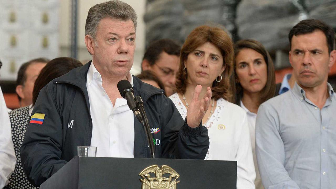 El presidente Juan Manuel Santos anunció que se creará una junta directiva para atender la crisis humanitaria en las zonas de frontera