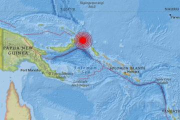 El movimiento telúrico se registró a las 3:44 de la madrugada del lunes en el estado oceánico