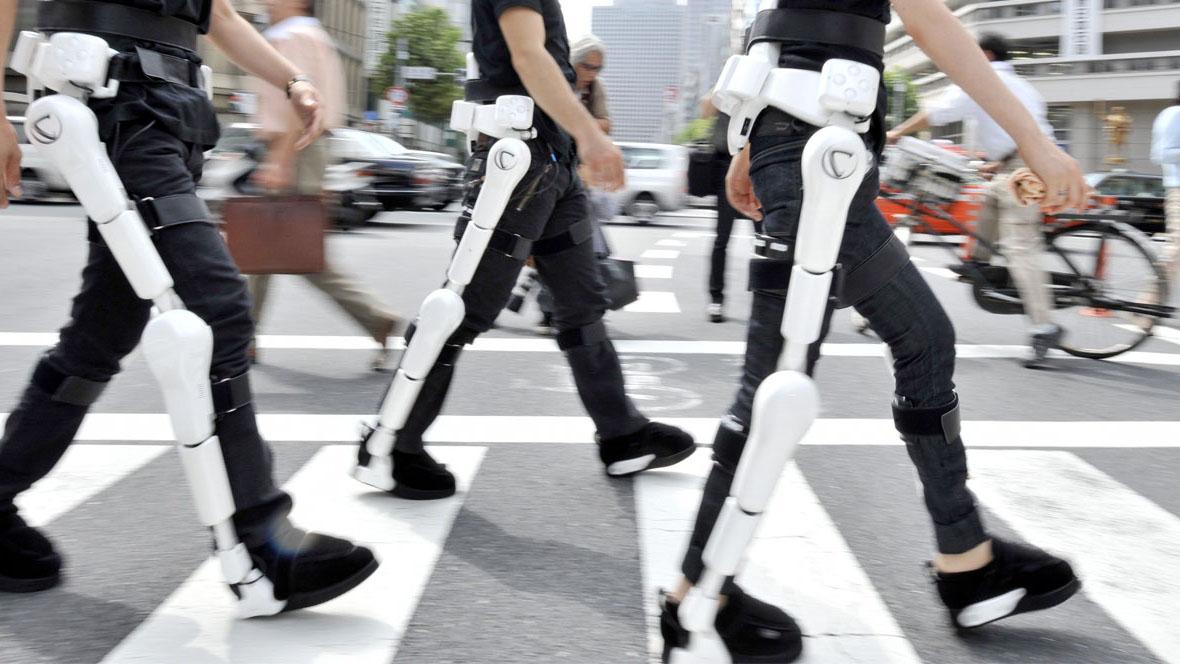 La invención se trata de un par de piernas exclusivamente aprobadas para un uso médico temporal destinado para rehabilitación