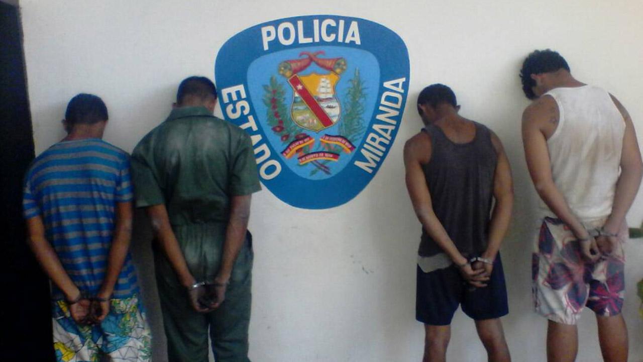 Doblellave-Polimiranda detuvo a cuatro sujetos involucrados en homicidio