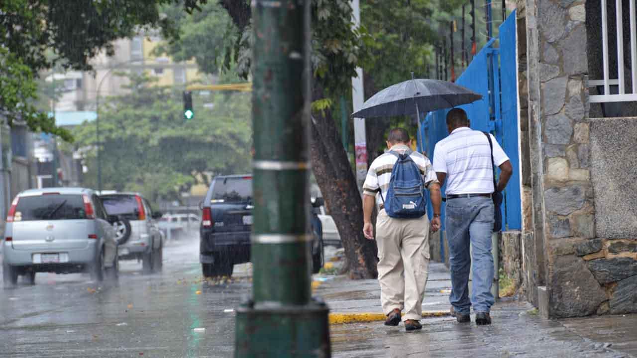El informe señala que las lluvias se presentarán en las regiones Central, Zuliana, Los Andes, Centro Occidental, Llanos Occidentales y Centrales