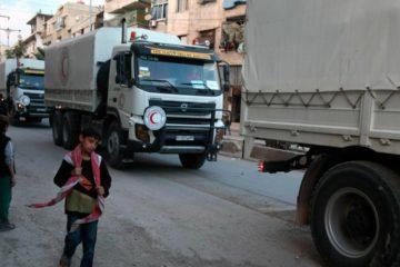 Las Naciones Unidas reportaron que un convoy con ayuda para el país en guerra se encuentra perdido, presuntamente secuestrado, desde este miércoles