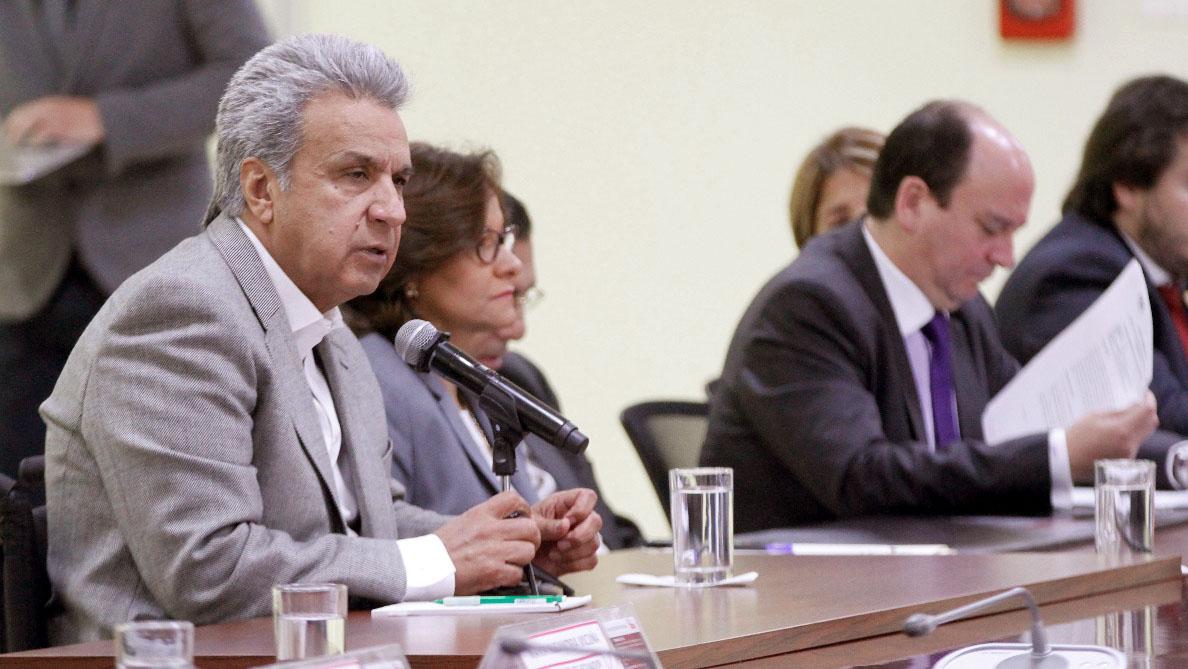 El presidente Lenín Moreno realizó el anuncio luego de una reunión del Consejo de Seguridad Pública de Ecuador