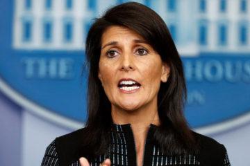 """La embajadora de Estados Unidos en las Naciones Unidas dijo que es """"hora de que el mandatario se vaya"""""""