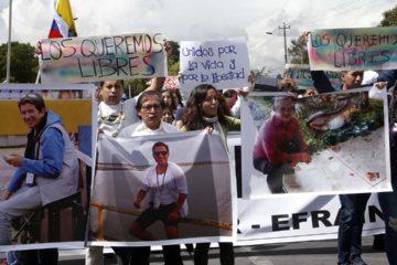 Familiares de los tres corresponsales víctimas de secuestro piden al CIDH recaudar la información correspondiente