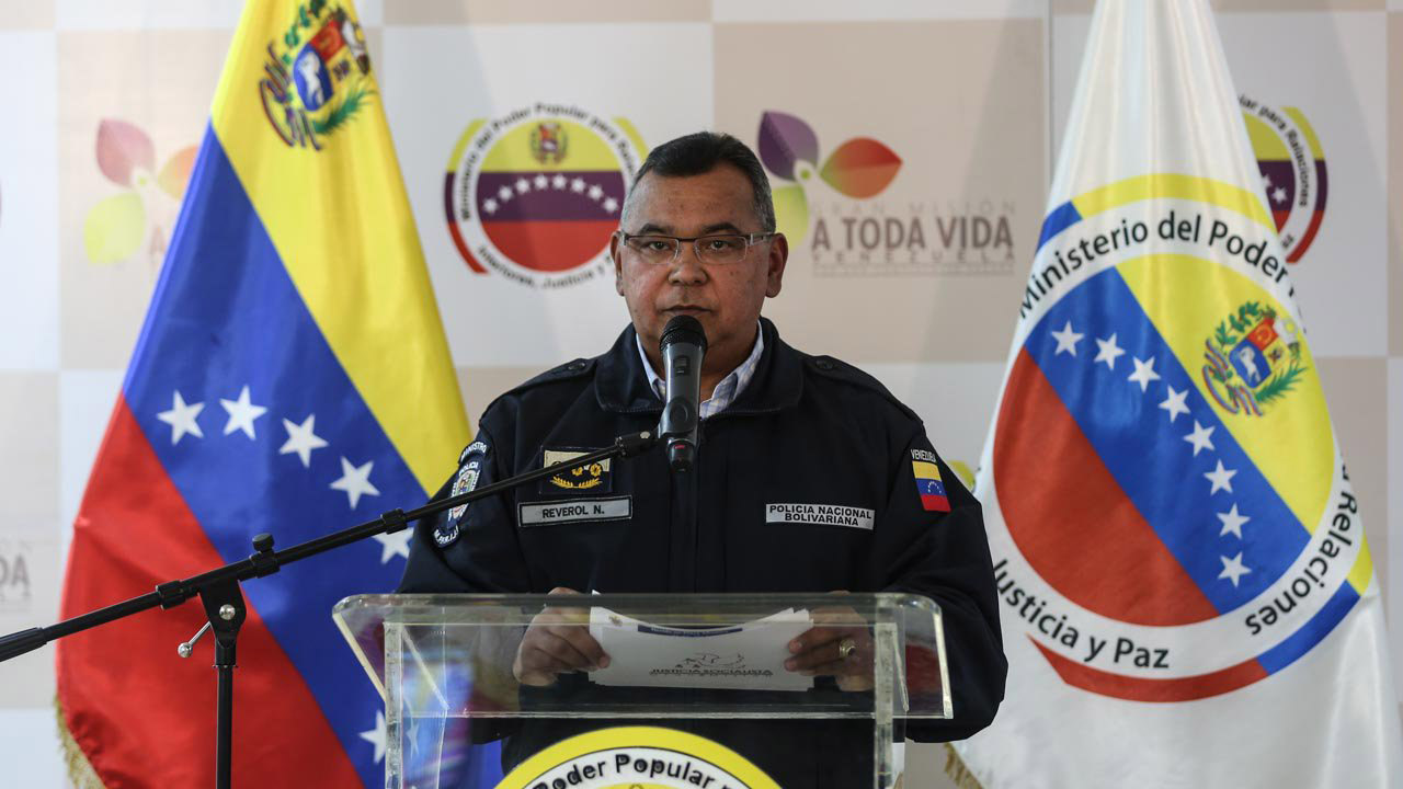 Según informó el ministro Reverol, las personas fueron detenidas por el FAES