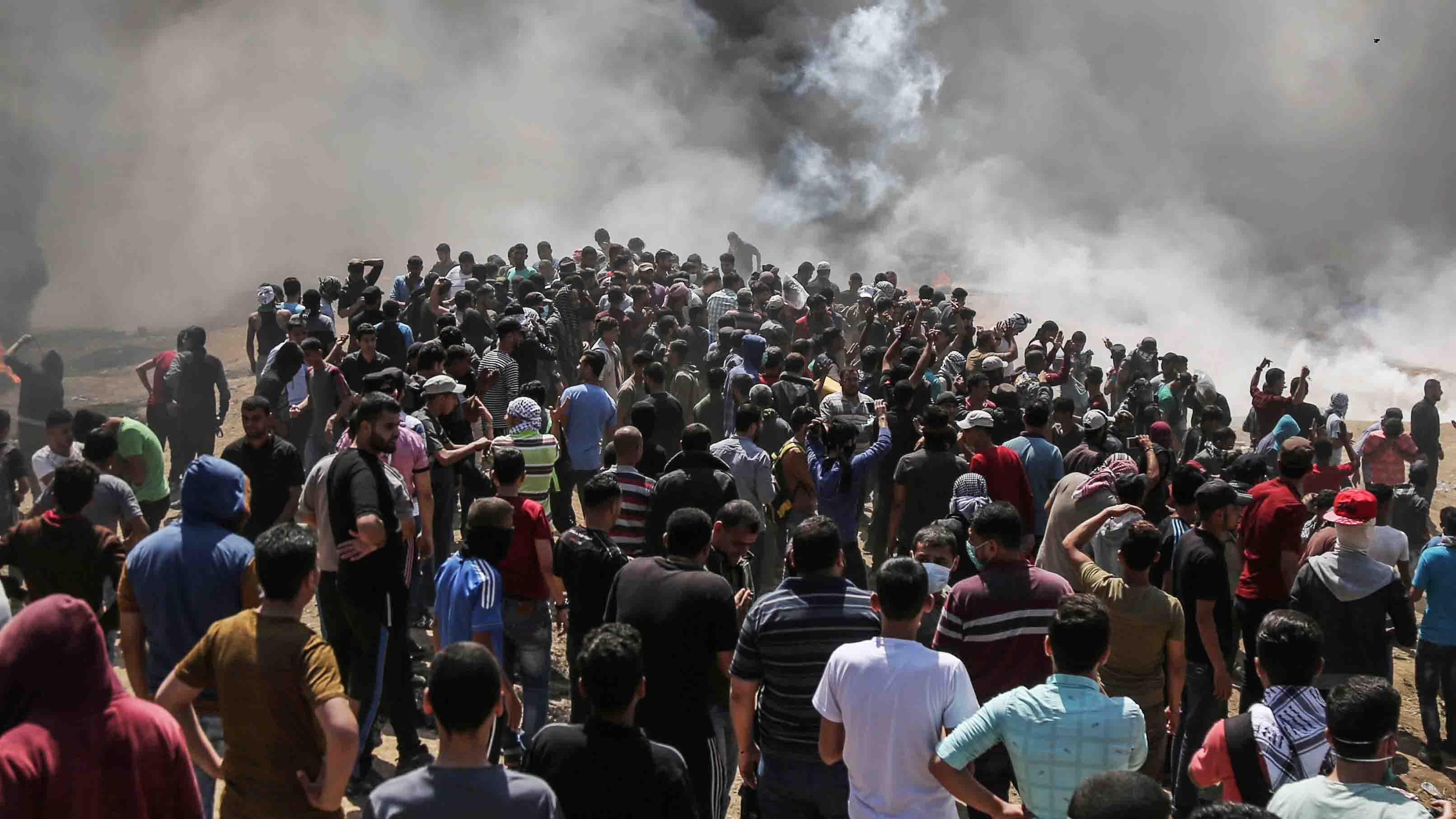 Doble Llave - Debido a las protestas por el cambio de sede de la embajada estadounidense, este día se torna como el más sangriento en la zona desde la Guerra de Gaza de 2014