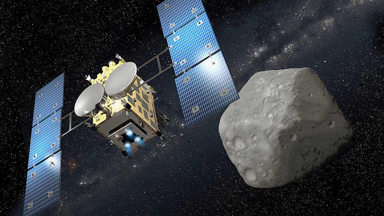 """Tras cuatro años de viaje por el espacio, la """"Hayabusa2"""" alcanzará el miércoles el planetoide"""