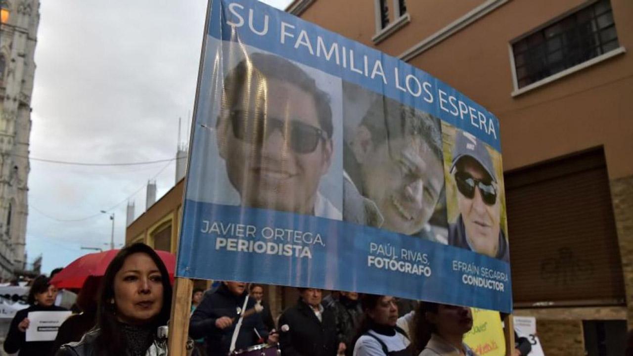 Los cuerpos de los trabajadores del diario El Comercio fueron descubiertos por la Policía Nacional en el departamento de Nariño