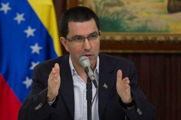 """El canciller de la República, Jorge Arreaza, manifestó que""""esa Oficina se presta a la agresión y el bloqueo contra el país"""""""