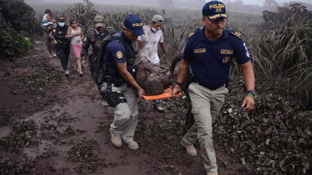 El Insivumeh indicó que la explosión ha sido la más fuerte registrada durante los últimos años en la nación