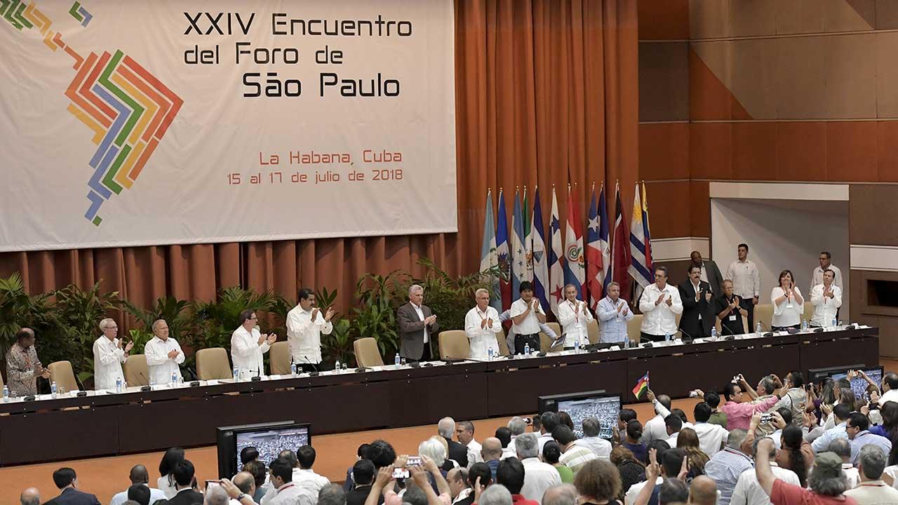 Durante el acto de clausura del encuentro regional se solicitó el fin del bloqueo económico a Venezuela y cese del embargo a Cuba