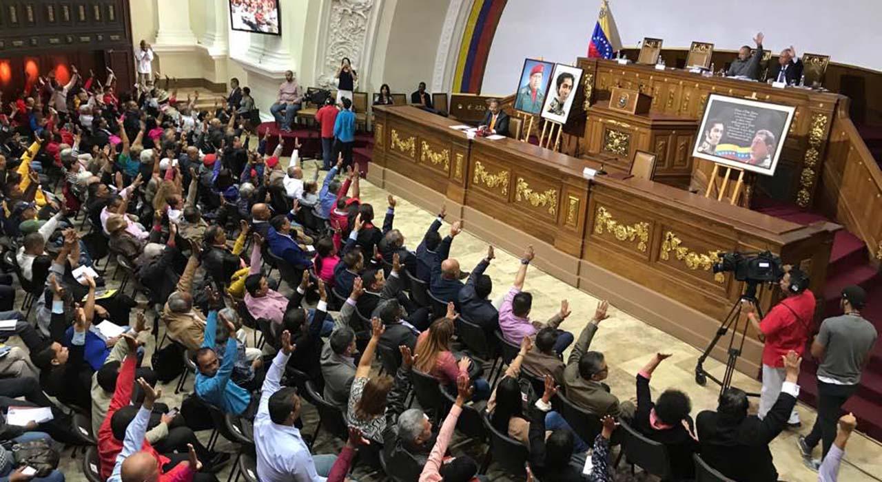 Varios dirigentes del Gobierno Nacional estuvieron presentes desde el Palacio Federal Legislativo en Caracas