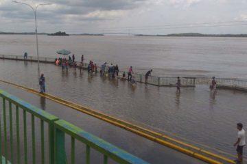 El río alcanzó el pasado fin de semana por primera vez la histórica cota de 18,34 metros sobre el nivel del mar