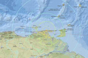 El epicentro del movimiento telúrico se ubicó en Yaguaraparo, en el estado Sucre, al oriente del país