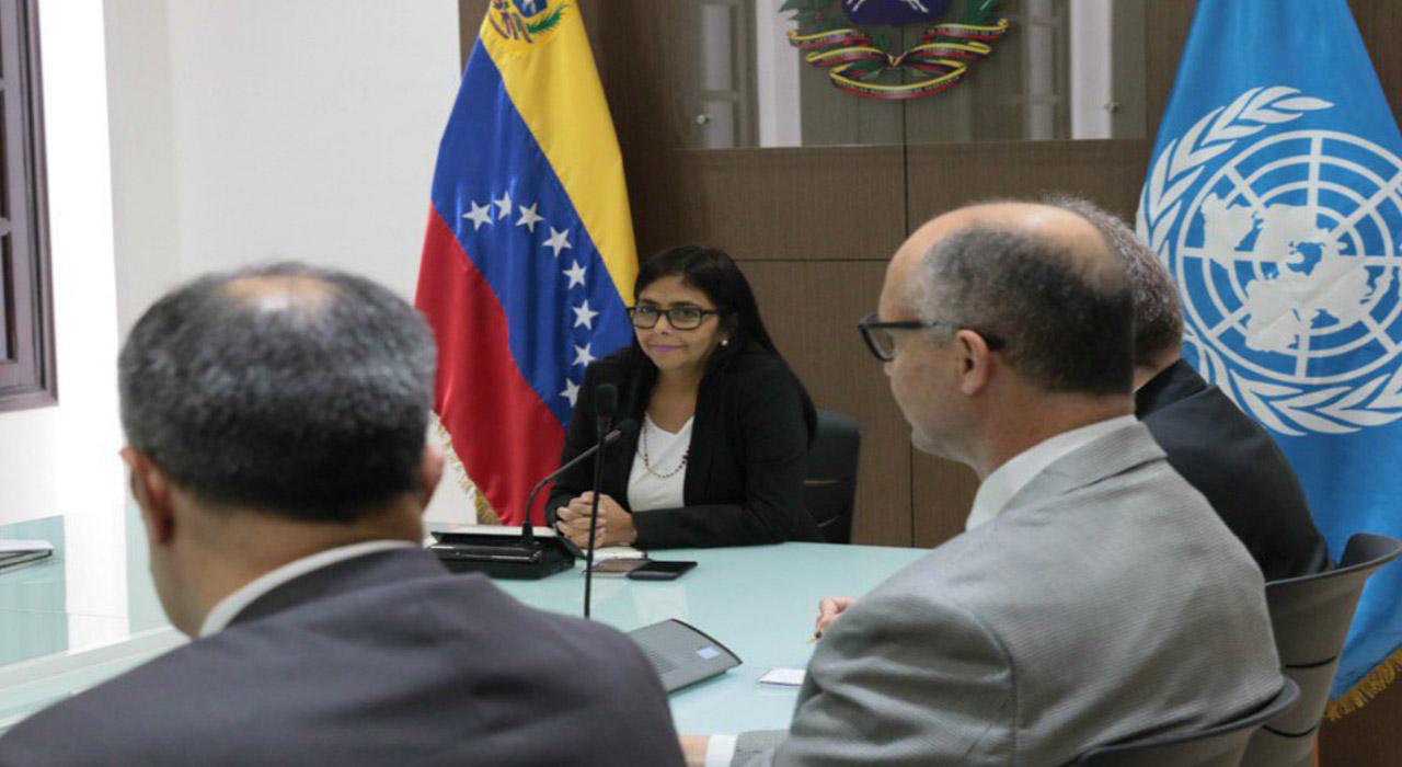 La vicepresidenta de la República informó que se debatió con el organismo internacional mecanismos para atender migración venezolana