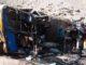 Un sobreviviente del accidente reveló que el chofer del autobús iba a exceso de velocidad al momento del choque