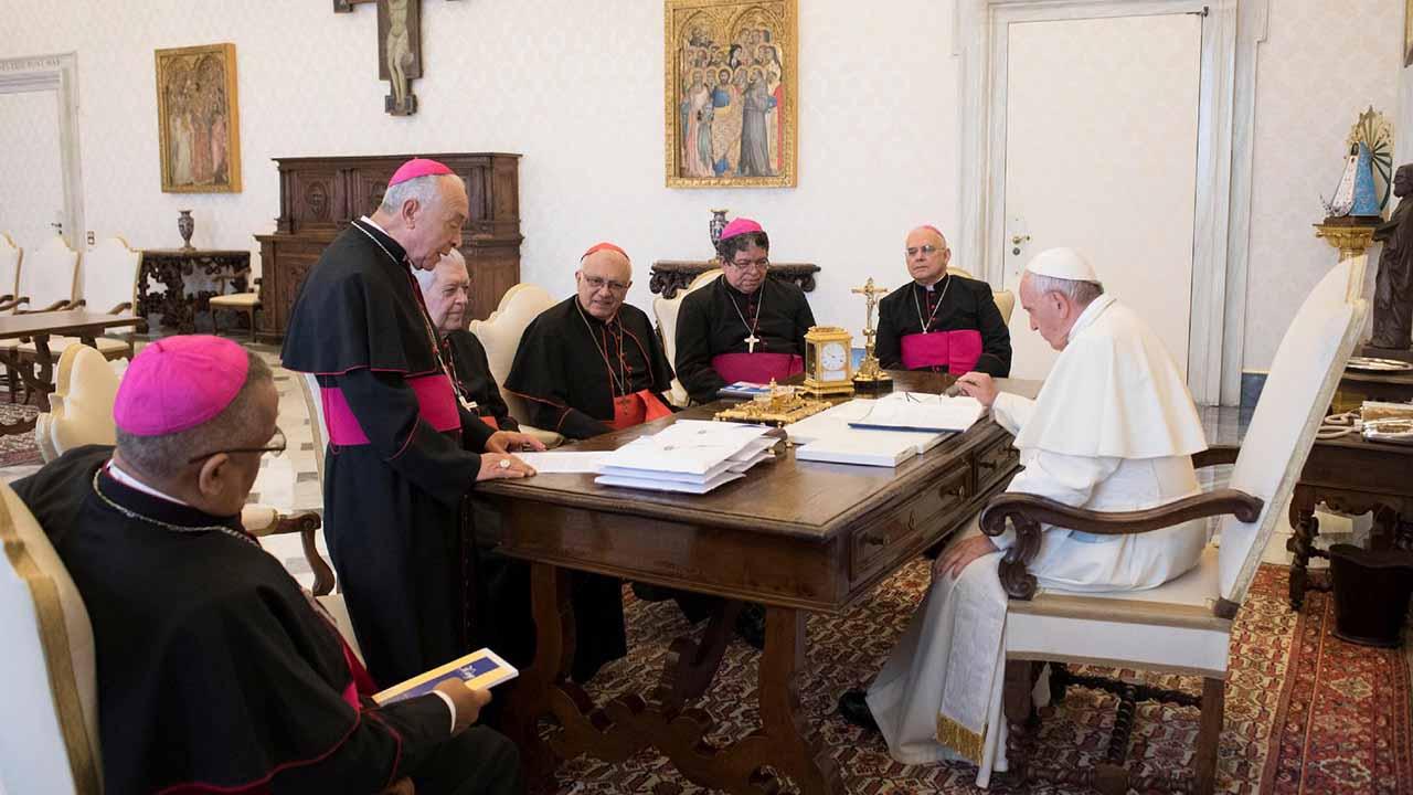 El encuentro se llevó a cabo la mañana de este martes durante la visita Ad Limina de los obispos venezolanos