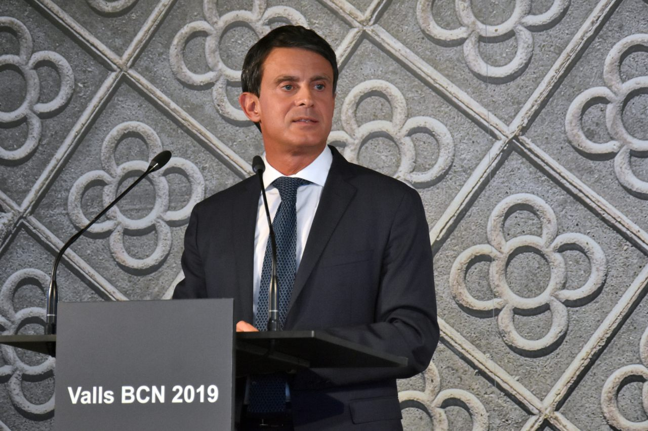 Manuel Valls agita la campaña por la alcaldía de Barcelona