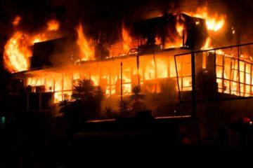 Incendio afectó sede de Corpoelec en Táchira