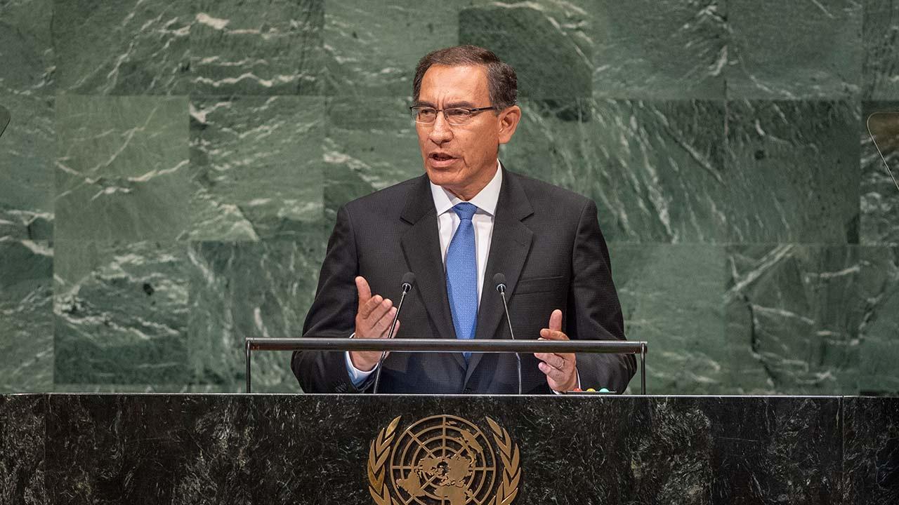 El mandatario peruano dijo en la 73° de la Asamblea General de la ONU que seguirá cooperando para restablecer la democracia en el país caribeño