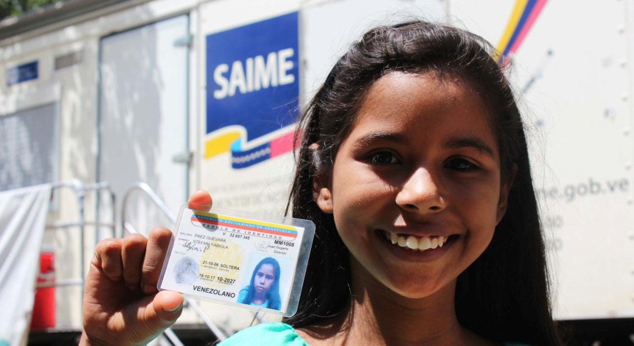 La jornada del documento de identidad será dirigida para los niños de 9 años de edad en adelante