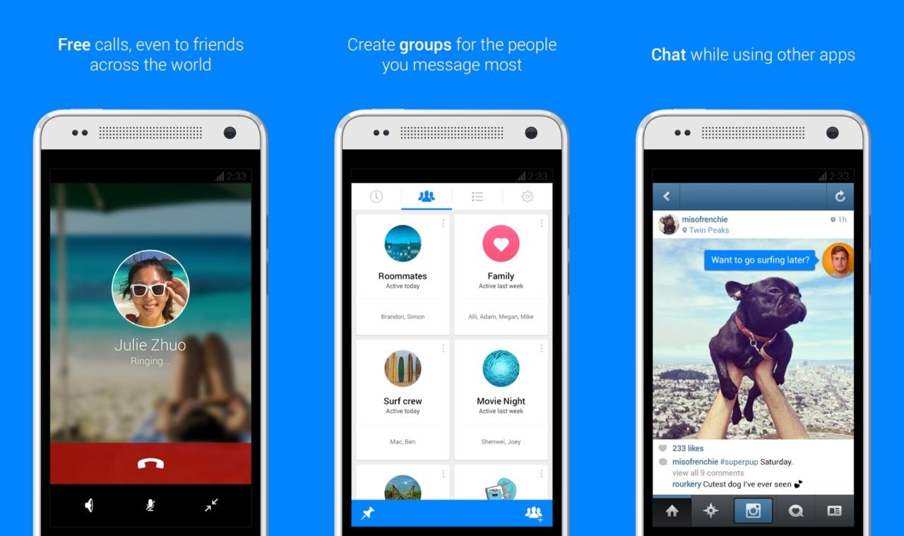 Facebook lanza su nuevo y simplificado Messenger 4