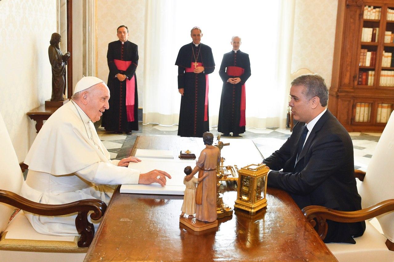 Duque se reunió con el papa y hablan del proceso de Paz y migraciones