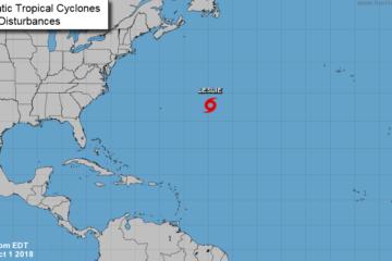 Las marejadas afectarán a Bermudas, Bahamas, partes de la costa suroriental de EE.UU. y la mayor parte de las Antillas Mayores y las Menores