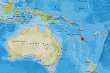 El epicentro del fenómeno tuvo lugar en el océano Pacífico a una profundidad de 10 kilómetros