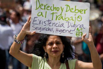Empleados públicos de Maracay protestaron por mejoras salariares