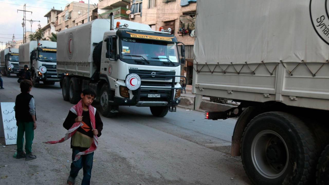 Se trata del primer conjunto de vehículos en acceder a Rukban, donde viven al menos 60.000 de personas desde abril de 2017